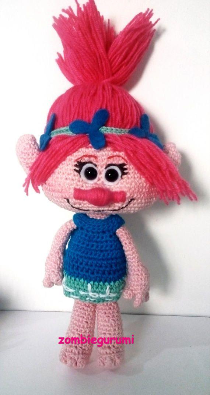 POPPY TROLLS AMIGURUMI. Patron Poppy Troll. | crochet amigurumi from ...