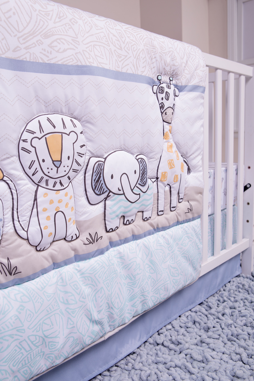 Sammy /& Lou Safari Yearbook 4 Piece Crib Bedding Set