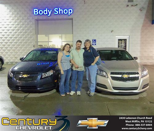 Century 3 Chevrolet Would Like To Say Congratulations To Amanda