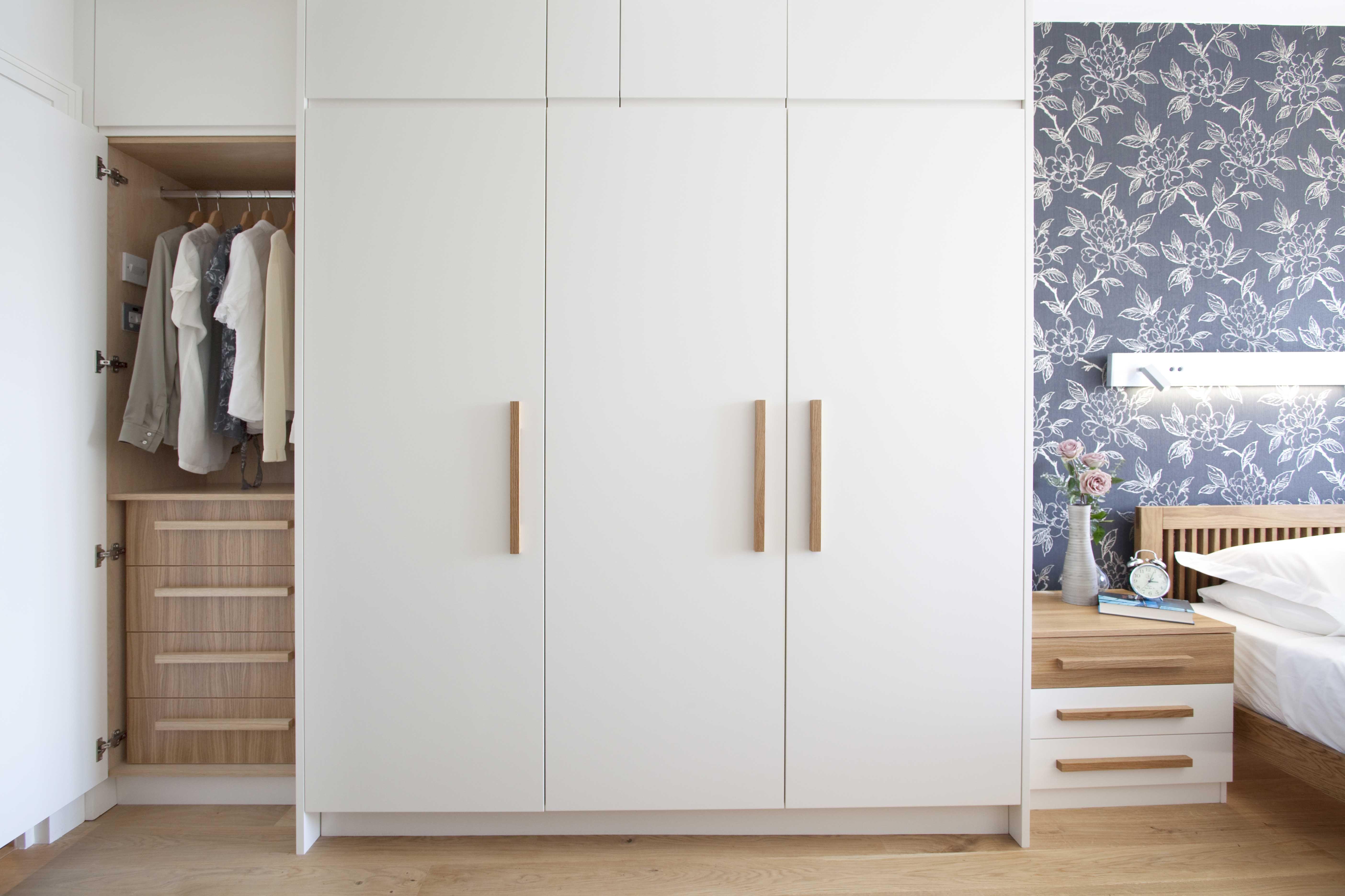 Fitted White Wardrobe Bespoke Cabinetry Wooden Increation Cupboard Design Bedroom Cupboard Designs Bedroom Cupboards