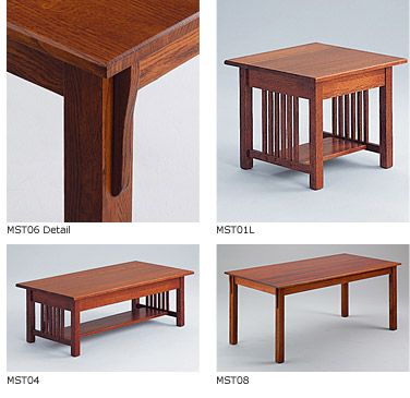 Mission Coffee Table With Images Craftsman Style Table
