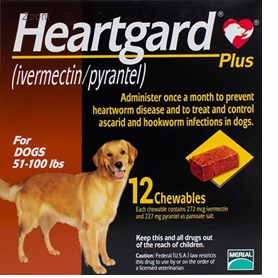 Heartgard Chewables Plus Brown Dogs 51100 lbs (2345kg