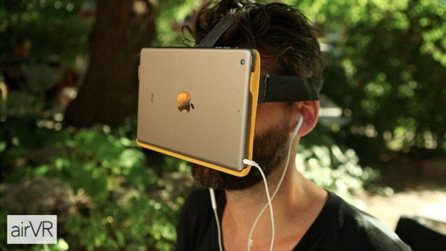 9c46ad36a068 Toronto-based Metatecture is seeking funding for its AirVR device. The £30  ( 49) virtual reality headset works by strapping an iPad to your face  dailym.ai  ...