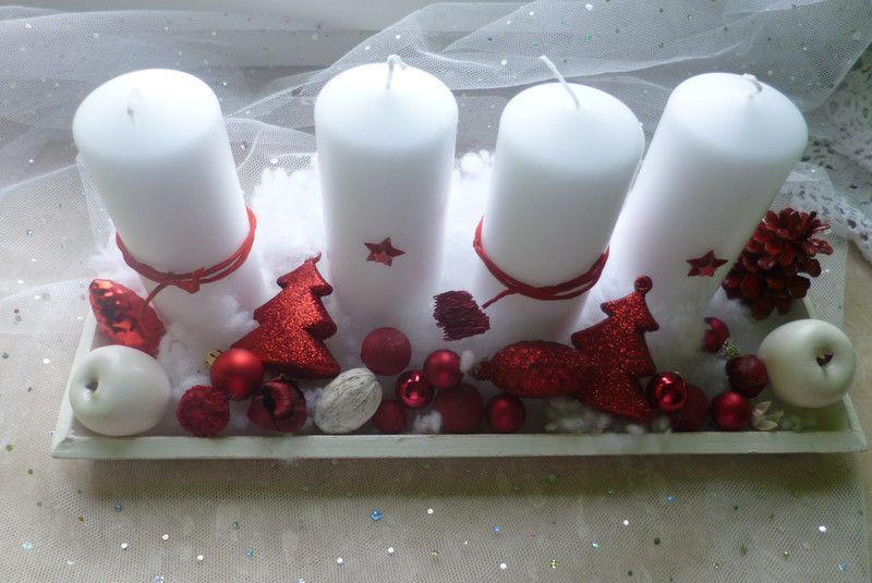 Adventsgesteck shabby chic vintage weihnachten von for Shabby chic laden