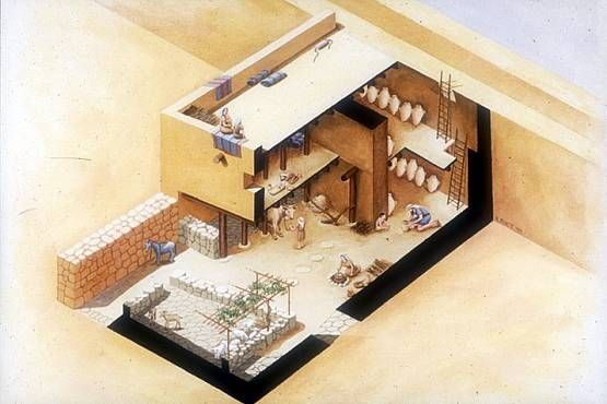 Model Of A Middle Eastern Village House 1st Century AD