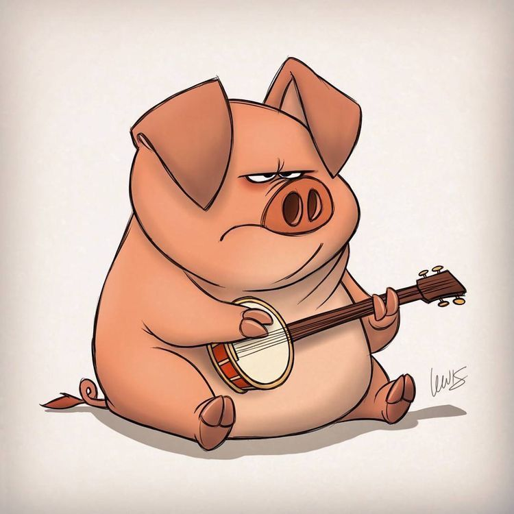 Funny Animated Pig Pictures