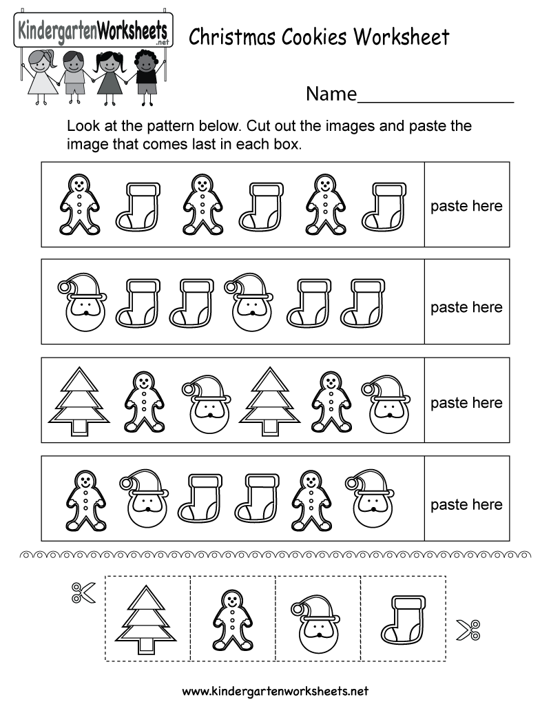 This Is A Christmas Patterns Worksheet For Kindergarteners It