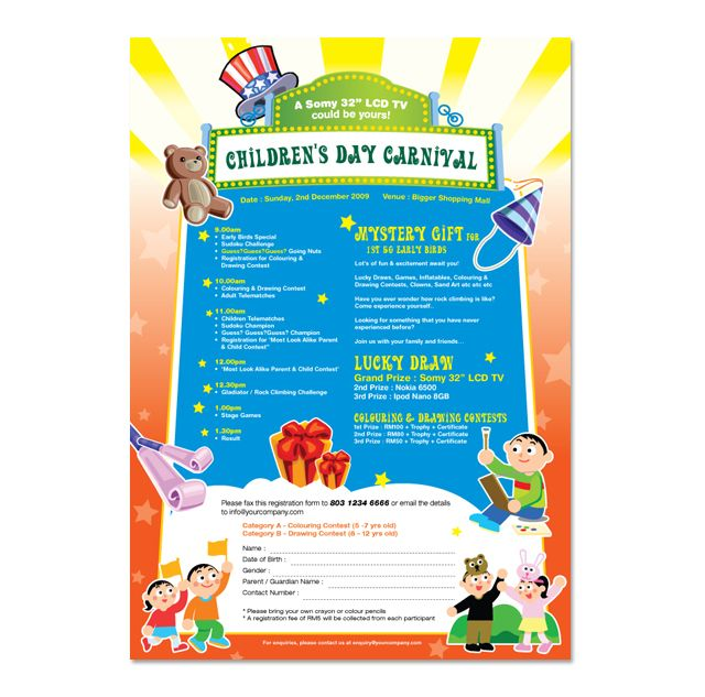 ChildrenS Day Carnival Flyer Template HttpWwwDlayoutsCom