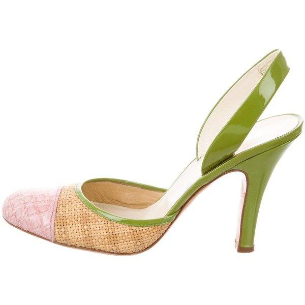 Pre-owned - Crocodile heels Prada g3z77nwCV