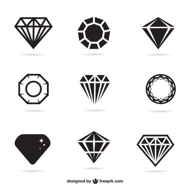 Conjunto de iconos de joyas Vector Gratis | Vector | Pinterest ...