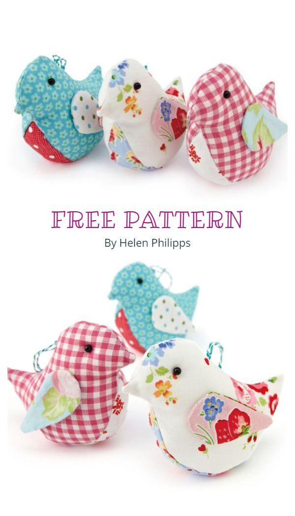 DIY Quilt Spring Fabric Bird Free Sewing Patterns