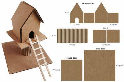Cardboard Treehouse C3 Cardboard Art 3d Art Projects