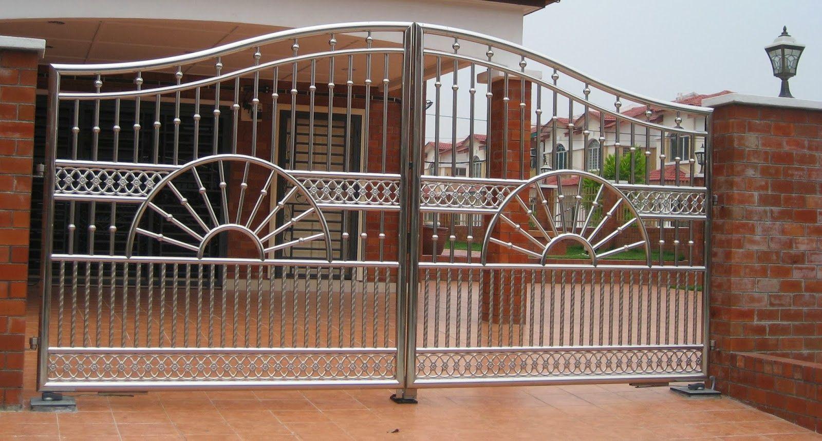 70 Desain Pagar Rumah  Minimalis Kayu dan Besi pintu