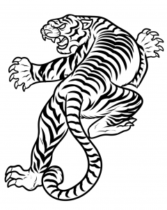How To Draw A Japanese Tiger Tattoo Step 8 Tiger Tattoo Tiger Face Drawing Japanese Tiger Tattoo