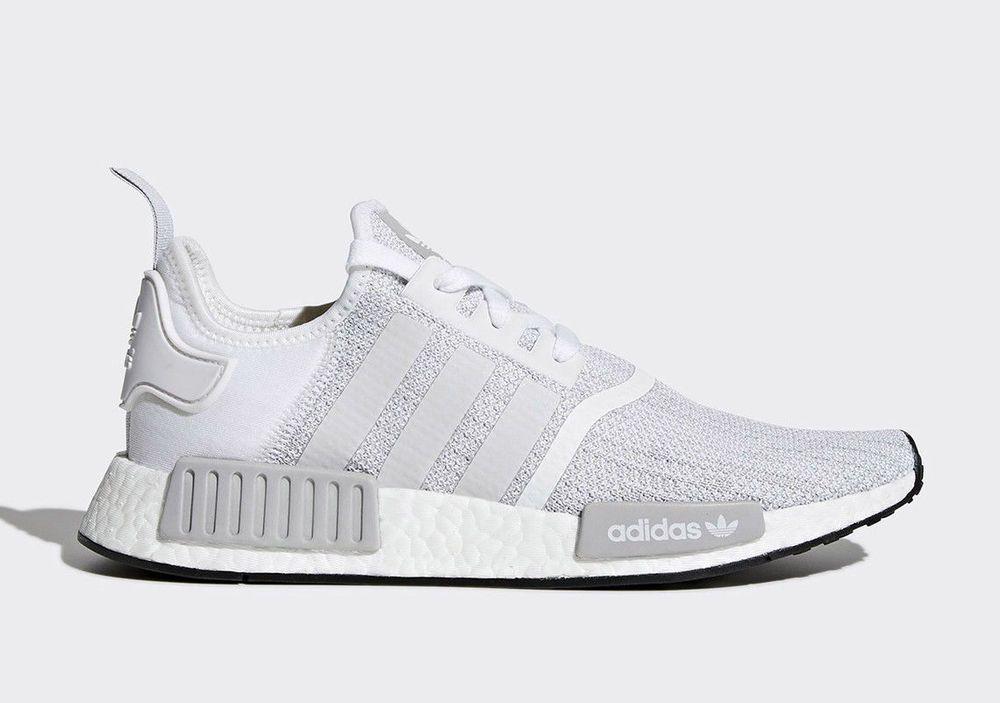 adidas originals nmd r1 white and black