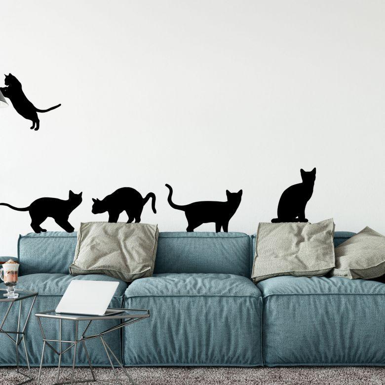 Adesivo murale Gatti Disponibili in 9 differenti