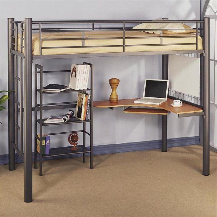 Ikea Full Loft Bed Ideas Bunk bed with desk, Ikea loft
