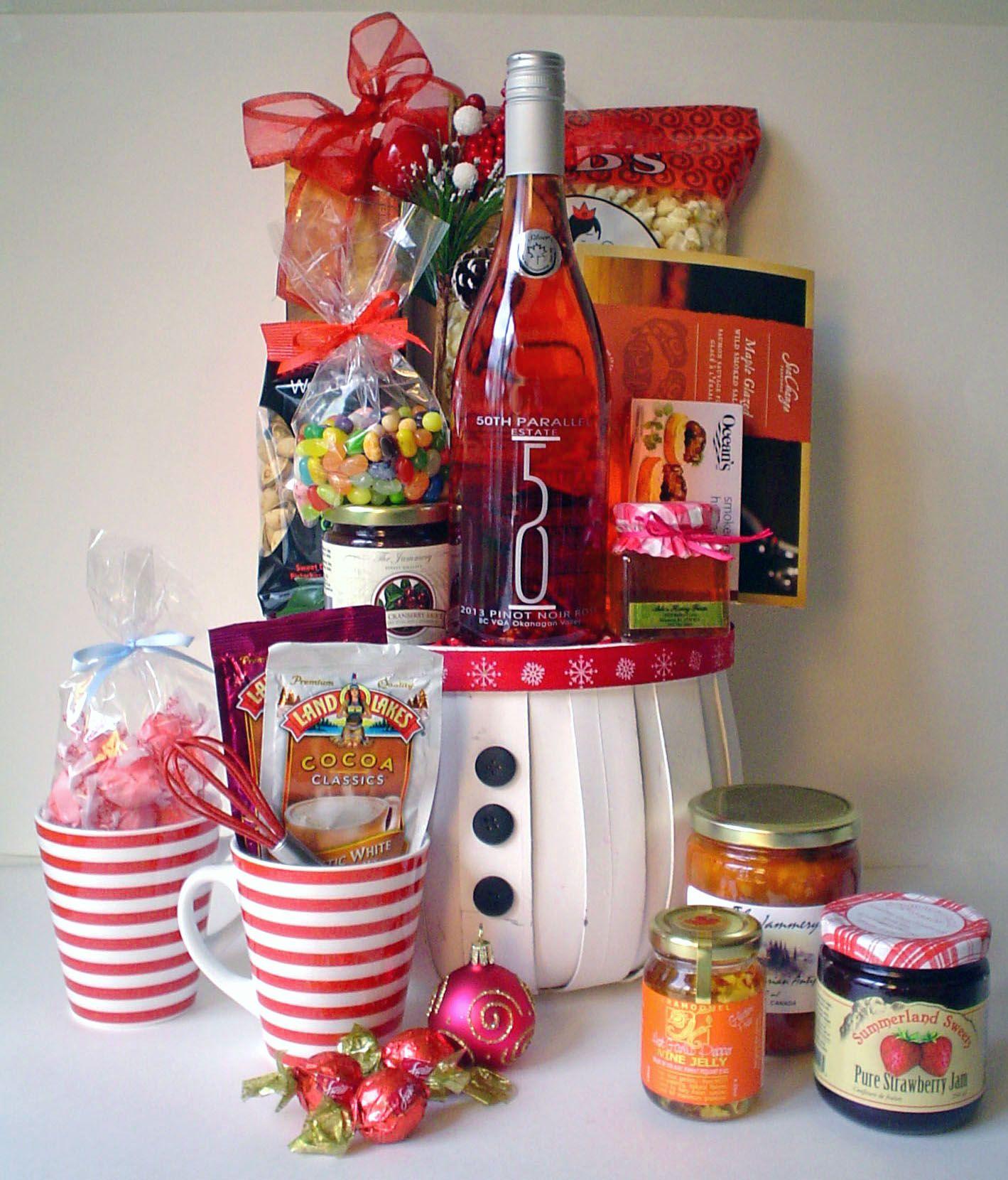 Festive gift baskets httpwwwpinksharkca wine