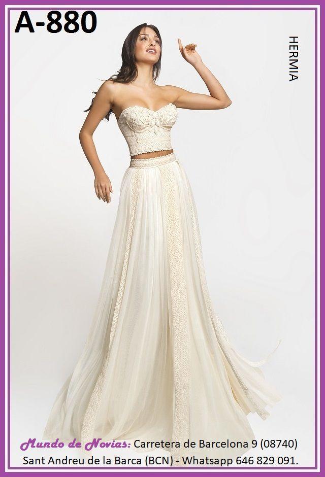 6874dc52efce Exclusivo y Original Vestido de Novia Bohemio y Vintage con TOP y FALDA  realizado a mano
