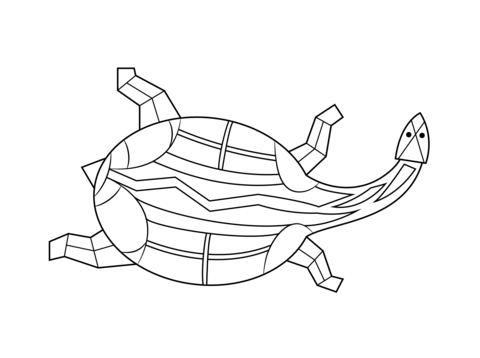 Aboriginal Painting of Turtle coloring page from