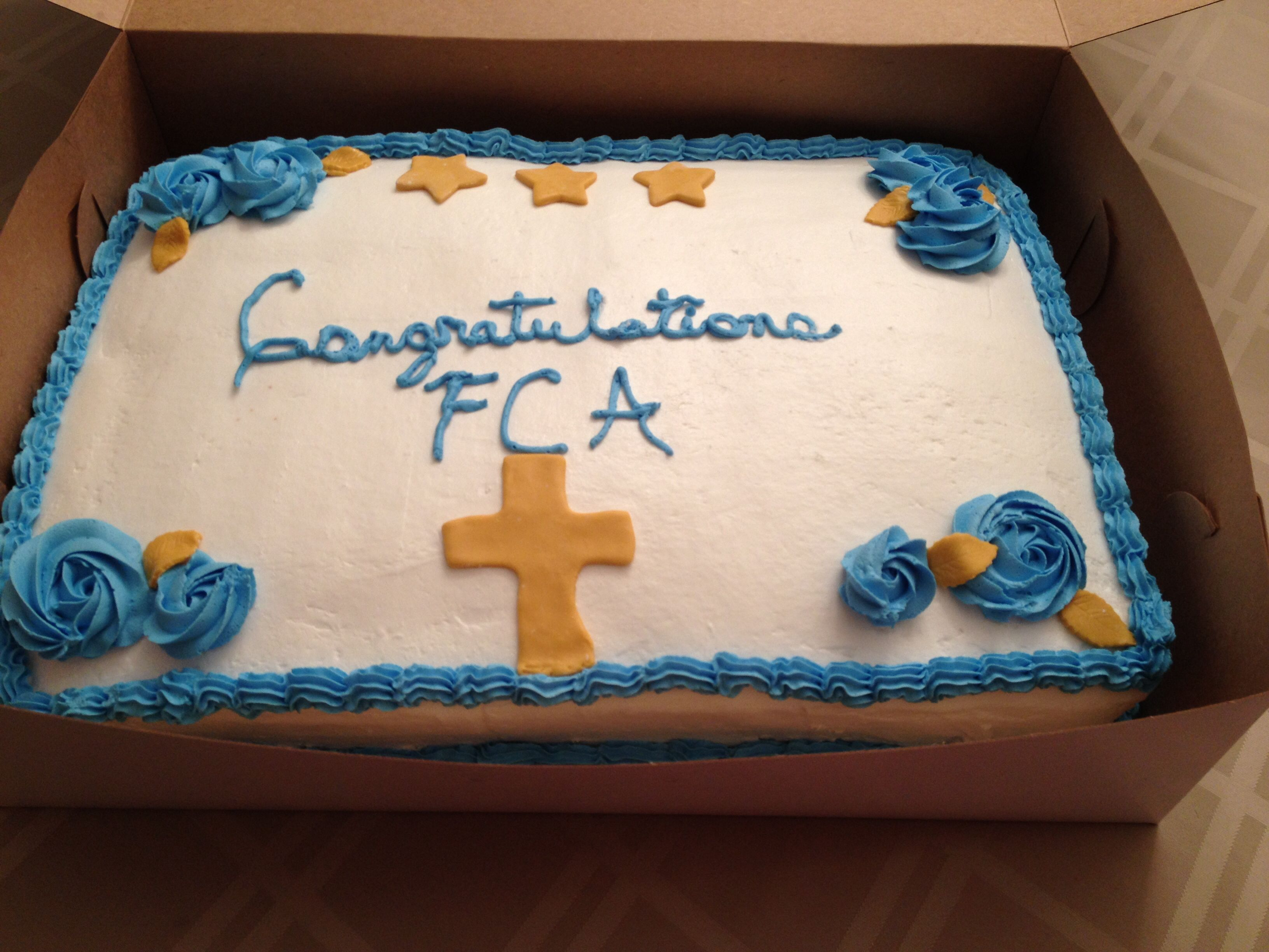 Christian School Cake