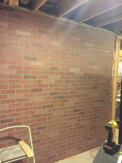 faux brick wall panel garage brick wall paneling. Black Bedroom Furniture Sets. Home Design Ideas