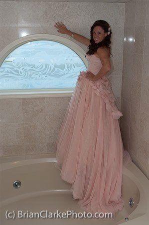 Beach wedding in Vera Wang White blush wedding gown vw351112 ...