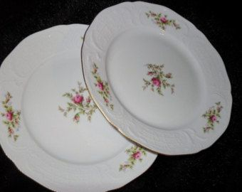 Vintage Rosenthal Classic Rose Plate 1940s 30 00 This Is A Set Of Two Rosenthal Classic Plates Germany They Have Pink Ros Classic Plates Plates Rose Plated