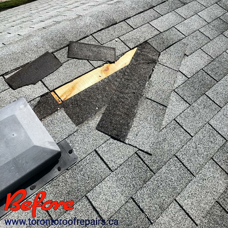 Shingle Roof Repair In Mississauga In 2020 Roof Repair Emergency Roof Repair Roof Shingles