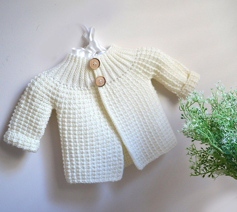 Photo of Vintage inspired cardi / jacket – P099 Knitting pattern by OGE Knitwear Designs