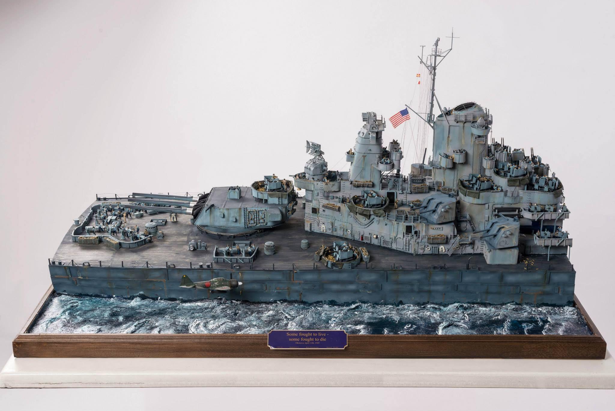 USS Missouri 1 72 Scale Model Diorama maquetas Pinterest