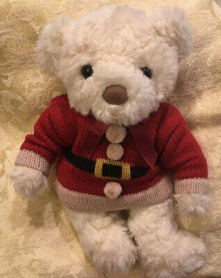 "9"" Vintage Russ Schubert Teddy Bear Plush Toy Red Christmas Sweater White Cream  | eBay #bearplushtoy"