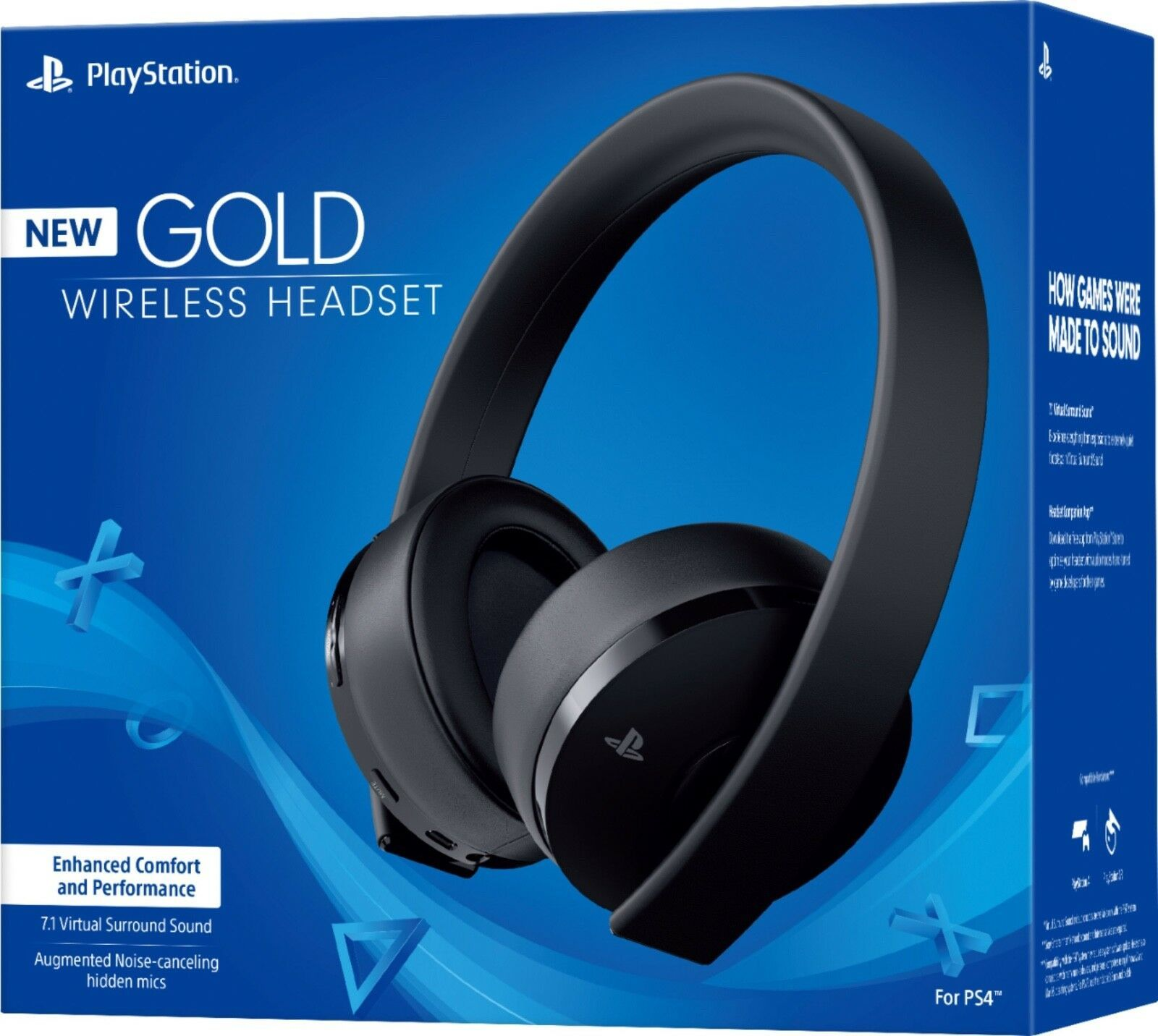 Headsets 171821 Sony Playstation Gold Wireless Headset 7 1 Surround Sound Ps4 New Buy It Now Only 84 9 On Ebay Headsets P In 2019 Playstation Gold Ps4 Headset Gaming Headset