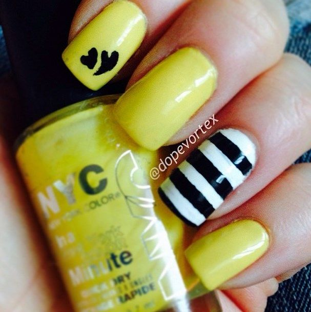 22 Fun and Easy Nail Designs for Beginners | Pinterest | Uñas verano ...