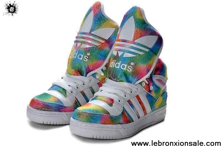 Buy Discount Adidas X Jeremy Scott Big Tongue 3D Shoes Coloful Casual shoes Store