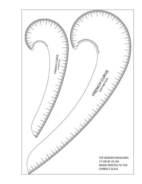 picture regarding Printable French Curve named printable French curves marked inside inches sewing Sewing
