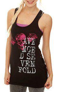 avenged sevenfold lace back tank top