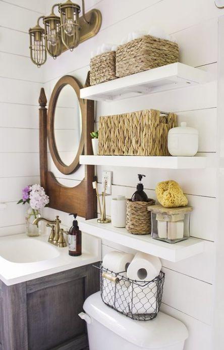 Photo of 17+ Ideas For Farmhouse Bathroom Storage Ideas Light Fixtures