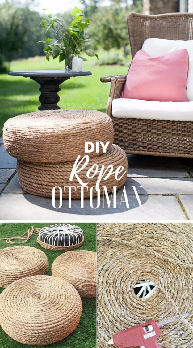 Photo of DIY Rope Ottomans