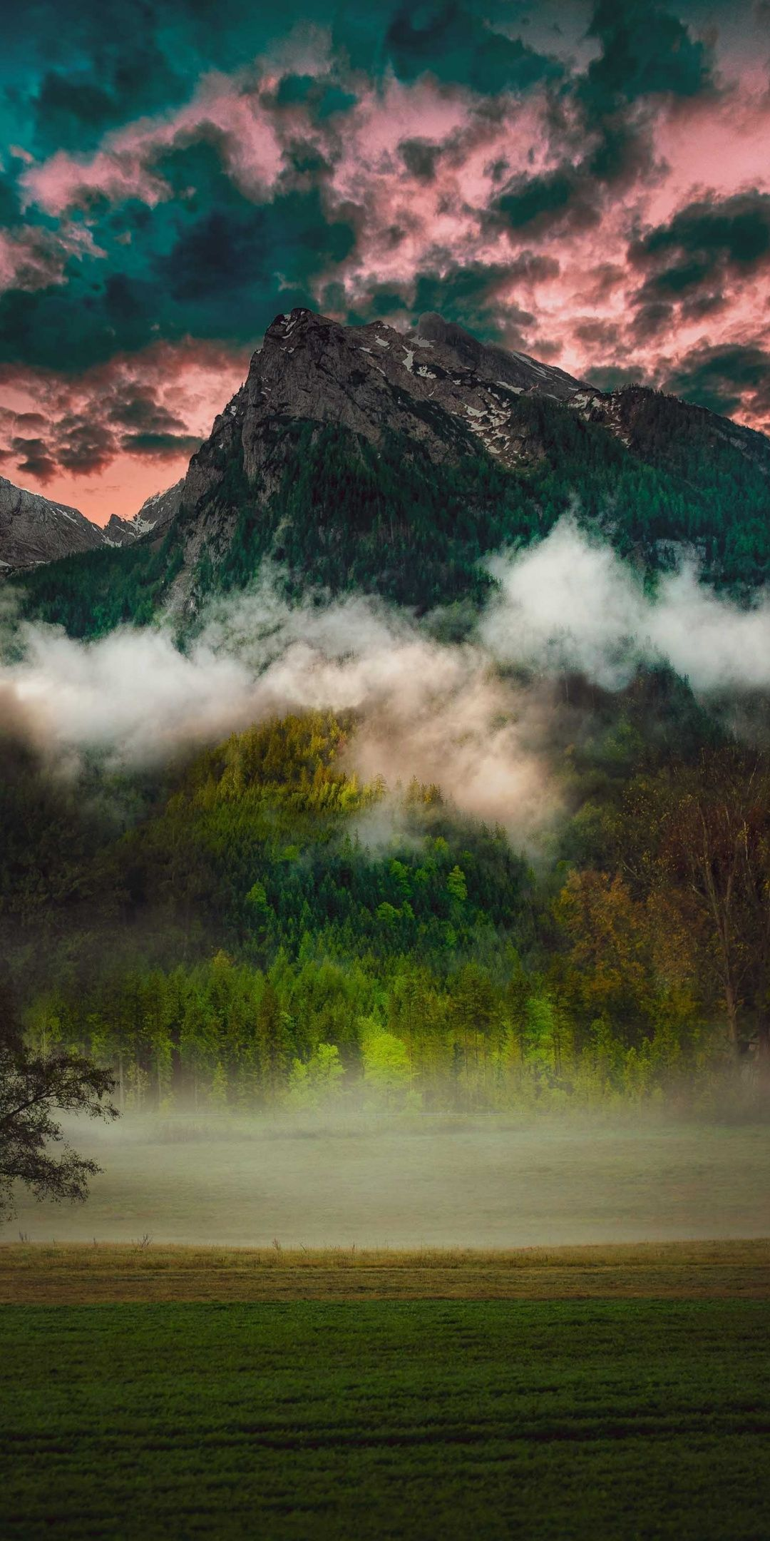 Mountain Fog Clouds Nature 1080x2160 Wallpaper Nature Photography Landscape Nature