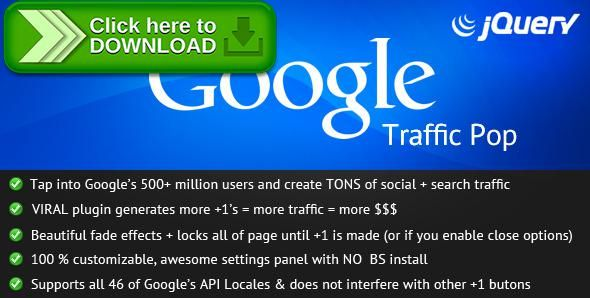 Free nulled Google Traffic Pop download Google traffic and Popup