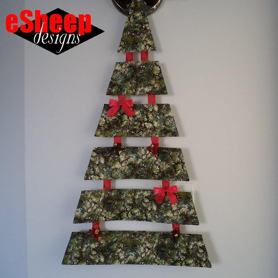 Hanging Fabric Christmas Tree Christmas Sewing Crafts Fabric