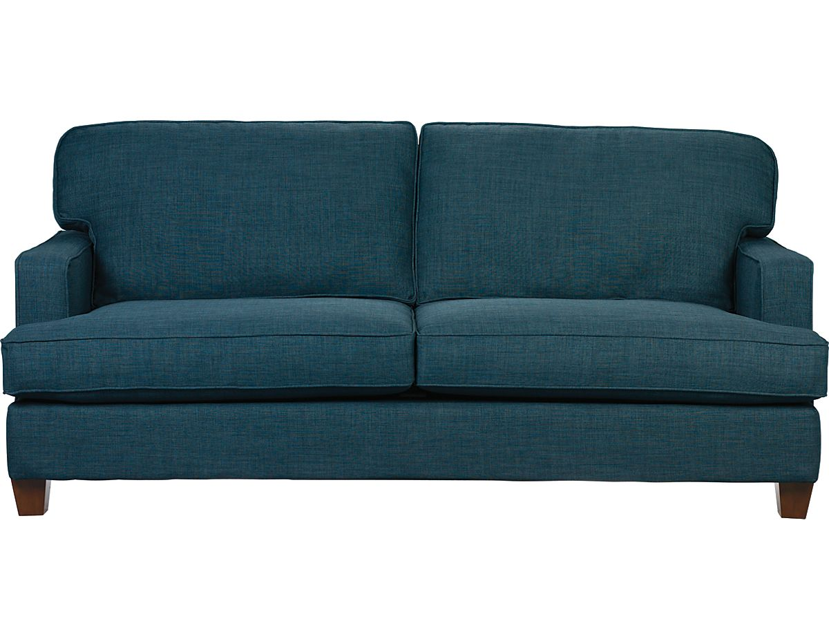 Sofa Upholstery Kent Macy S Clearance Leather Linen Look Fabric Blue Kentbl The Brick