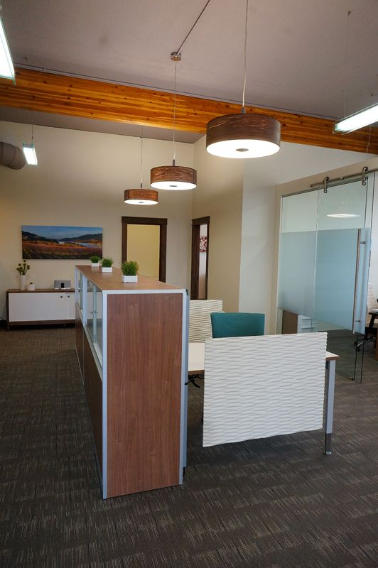 Modern Open Office Design By Hatch Interior Design Kelowna Bc Global Floorplay Furniture Highlighted Here Open Office Design Open Office Corporate Interiors