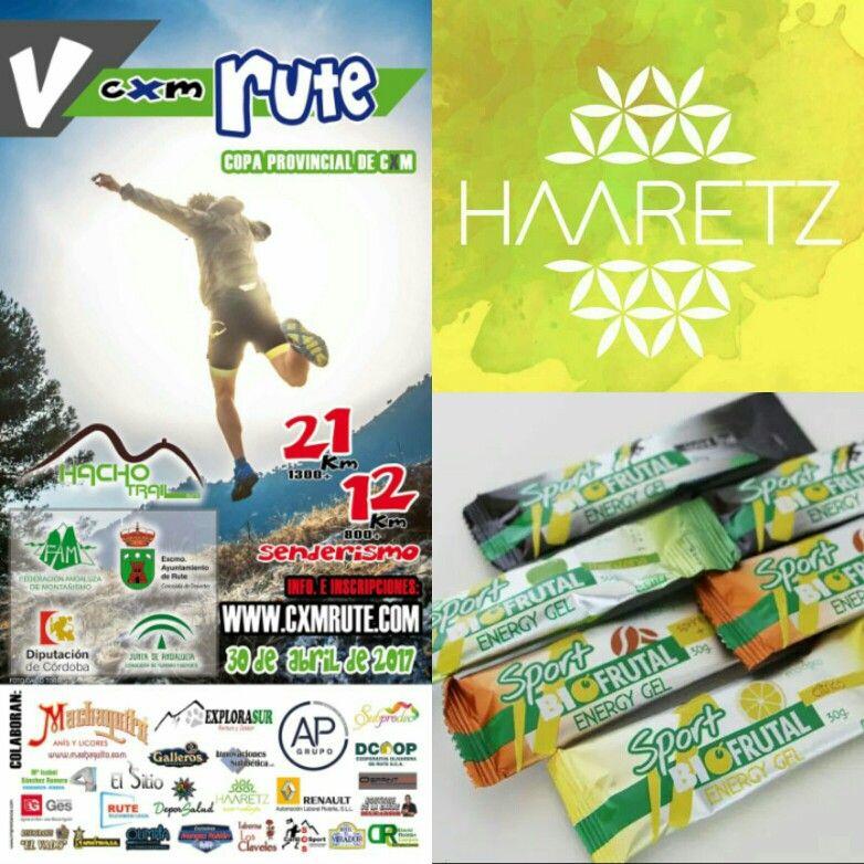La tienda Haaretz Eco Shop será uno de los patrocinadores de la CXM Rute que se celebrará el 30 de abril del 2017 y junto a los productos ecológicos para deportistas Biofrutal tendremos un Stand para proveerles todo lo necesario antes, durante y después de la carrera. Los esperamos !!!