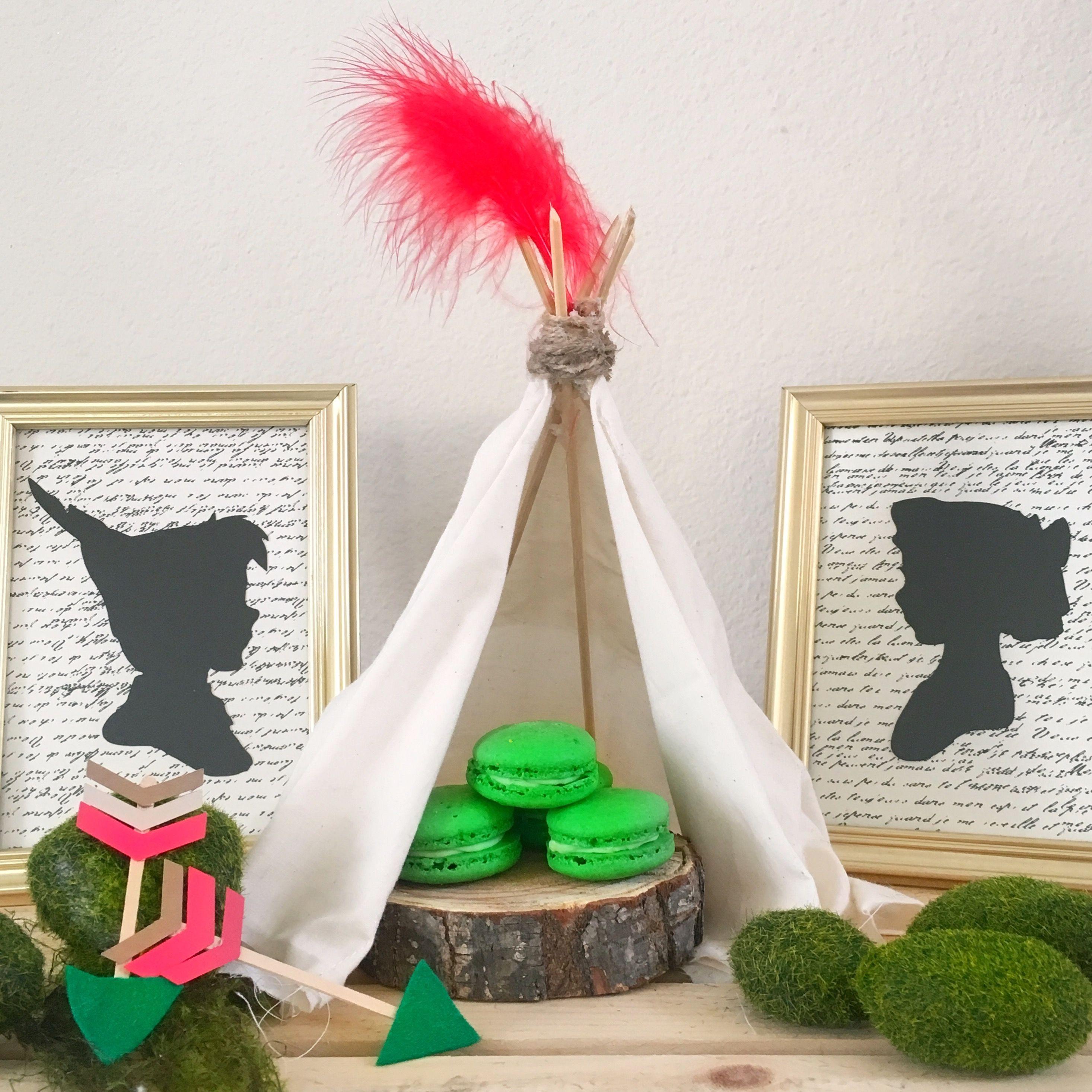 Lullaby Land Nursery Decorating Ideas: SugarPartiesLA Peter Pan Party,neverland,teepee ,macroons