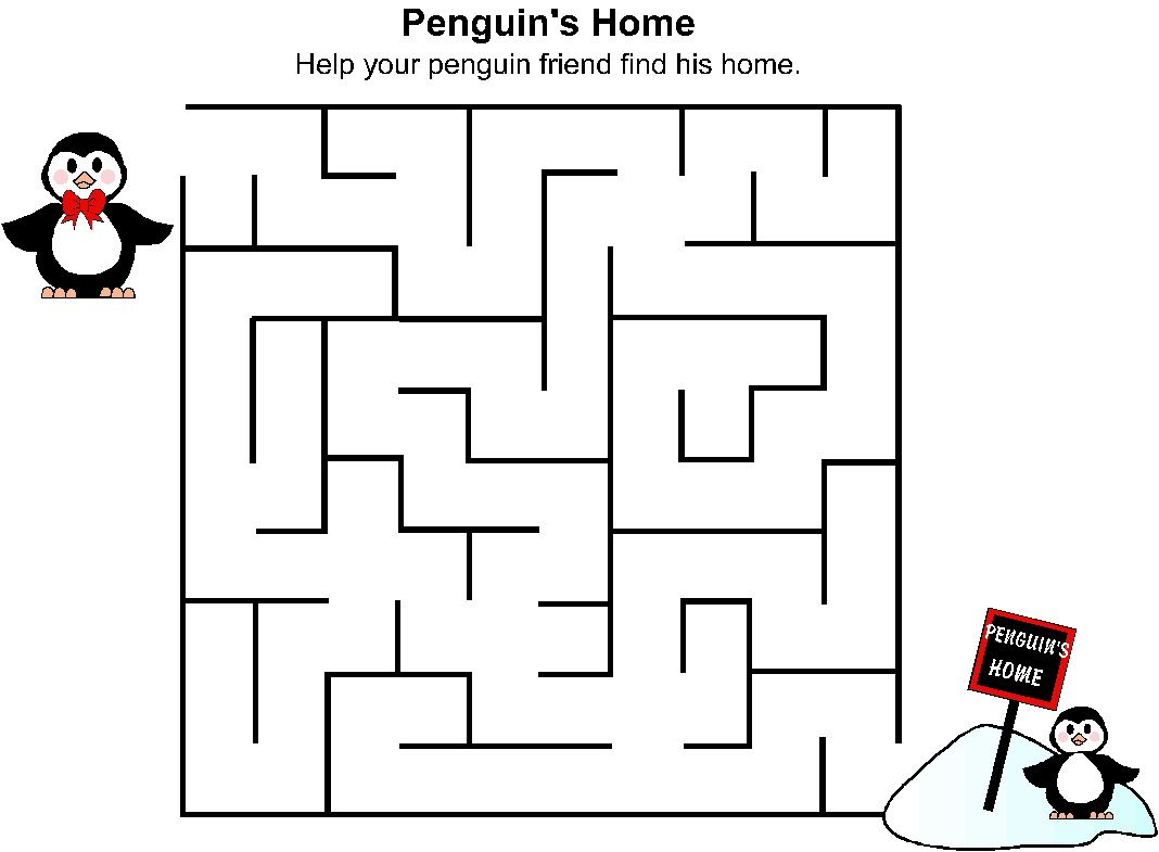 kids indoor activity penguin maze penguins
