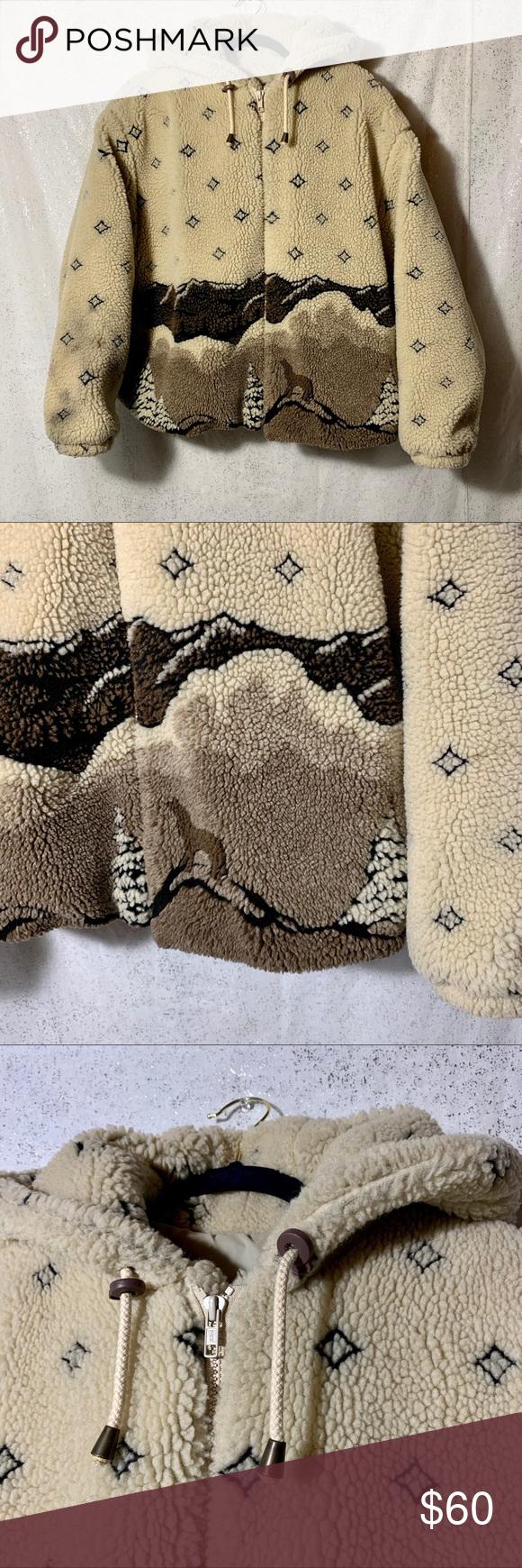 Izzi Outerwear Vintage Fleece Teddy Bear Jacket Bear Jacket Teddy Bear Jacket Outerwear [ 1740 x 580 Pixel ]