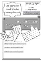 Lösungsformel gemischt-quadratische Gleichungen (abc-Formel ...