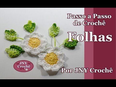 Passo a Passo de crochê Flor Roseta (botão de rosa) por JNY Crochê - YouTube